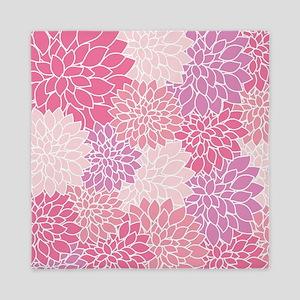 Pink Floral Vintage Pattern Queen Duvet