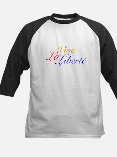 Vive La Liberté - Long Live Libert Baseball Jersey