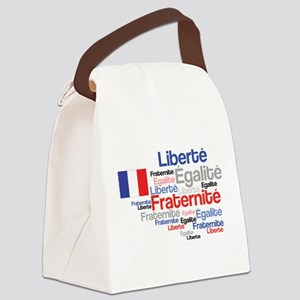 French Liberty Bastille Day Canvas Lunch Bag