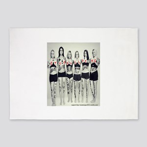 girls say no bullying 5'x7'Area Rug