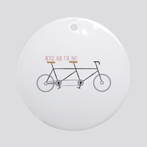 Bicycle for Two Ornament (Round)