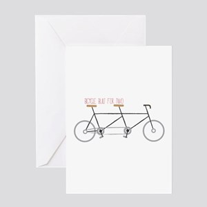 Bicycle for Two Greeting Cards