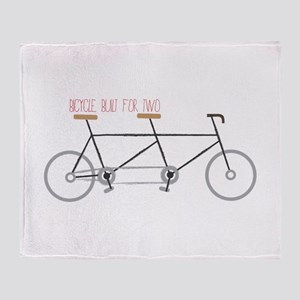 Bicycle for Two Throw Blanket