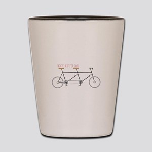 Bicycle for Two Shot Glass