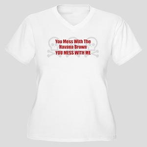 Mess With Havana Women's Plus Size V-Neck T-Shirt