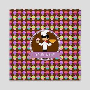 Modern Cupcakes Monogrammed Personaliz Queen Duvet