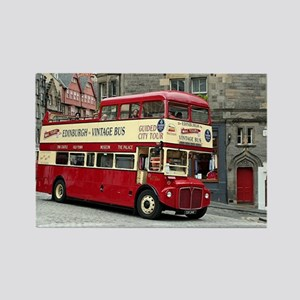 Vintage tour bus, Edinburgh, Scotland, Uni Magnets