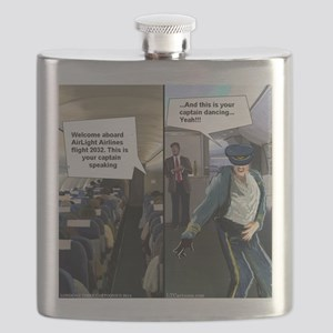 Hipster Airline Pilot Flask