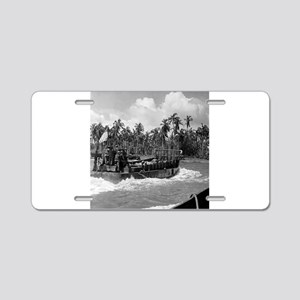 battle of the phillipines Aluminum License Plate