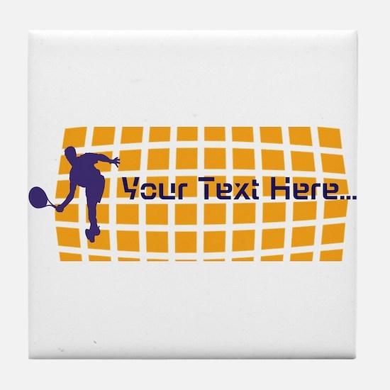 Tennis Fan Orange Tile Coaster