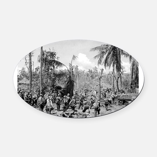 battle of the phillipines Oval Car Magnet
