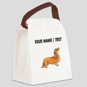 Longhaired Dachshund (Custom) Canvas Lunch Bag