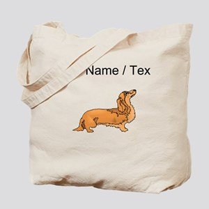 Longhaired Dachshund (Custom) Tote Bag