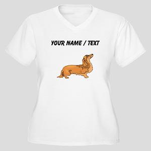 Longhaired Dachshund (Custom) Plus Size T-Shirt
