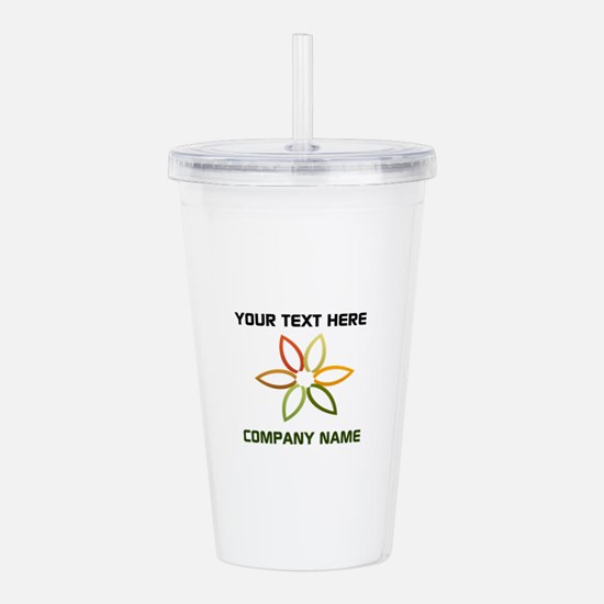Bright Flower Logo Acrylic Double-wall Tumbler