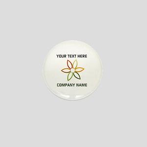Bright Flower Logo Mini Button