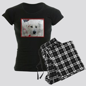 great pyrenees with teddy be Women's Dark Pajamas