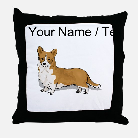 Pembroke Welsh Corgi (Custom) Throw Pillow