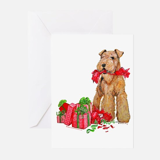 Funny Airedale terrier Greeting Cards (Pk of 20)