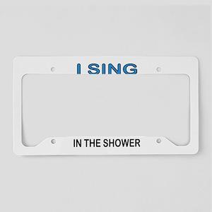 SHOWER SINGER License Plate Holder