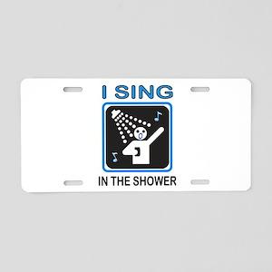 SHOWER SINGER Aluminum License Plate