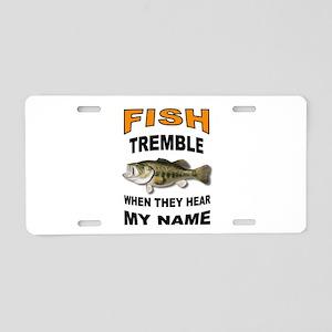 FISH TREMBLE Aluminum License Plate