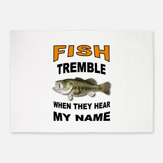 FISH TREMBLE 5'x7'Area Rug