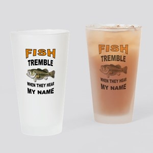 FISH TREMBLE Drinking Glass