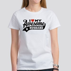 I Love My Awesome Husband Women's T-Shirt