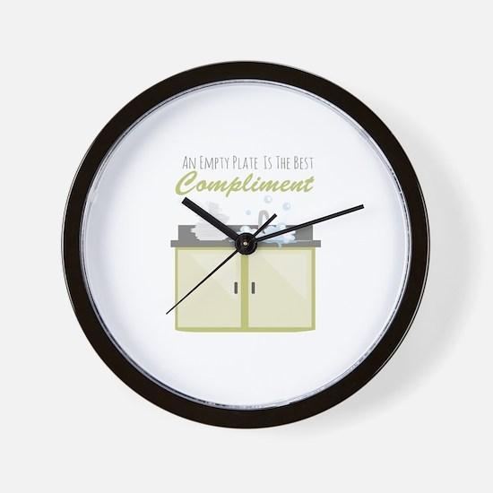 Washing Dishes Wall Clock