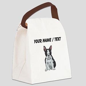 Boston Terrier (Custom) Canvas Lunch Bag