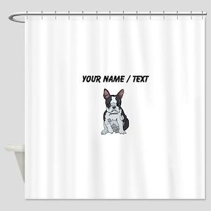 Boston Terrier (Custom) Shower Curtain