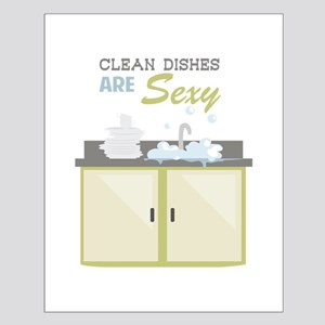 Clean Dishes Sexy Posters