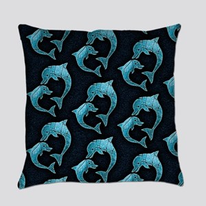 Dolphins Worn Pattern Master Pillow