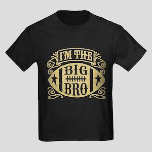 I'm The Big Bro Football Kids Dark T-Shirt