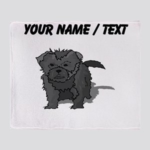 Affenpinscher Puppy (Custom) Throw Blanket