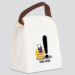 Take Note Canvas Lunch Bag