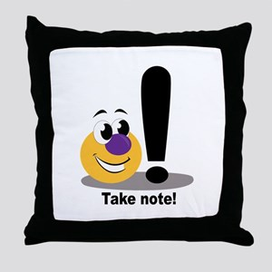 Take Note Throw Pillow