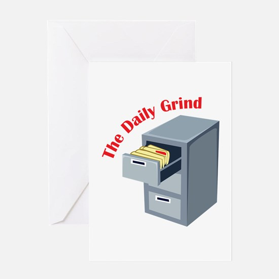 Daily Grind Greeting Cards