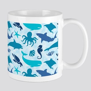 Sea Life Pattern Mug