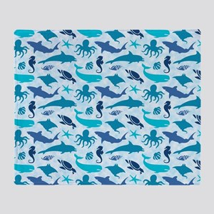 Sea Life Pattern Throw Blanket