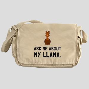 Ask Me About Llama Messenger Bag