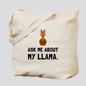 Ask Me About Llama Tote Bag