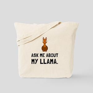 Ask Me About Llama Tote Bag