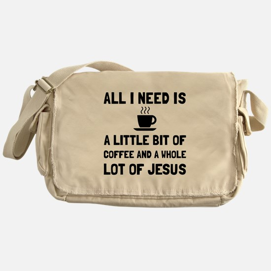 Coffee And Jesus Messenger Bag