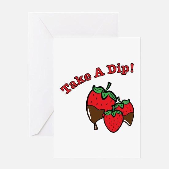 Take a Dip Greeting Cards