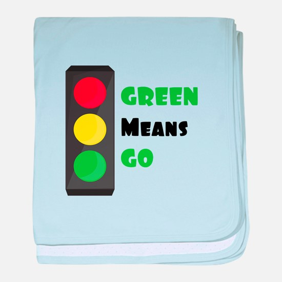 Green Means Go baby blanket