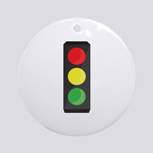 Stop Light Ornament (Round)