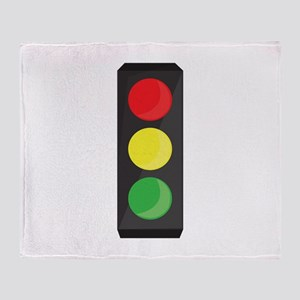 Stop Light Throw Blanket