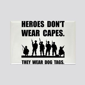 Heroes Wear Dog Tags Magnets